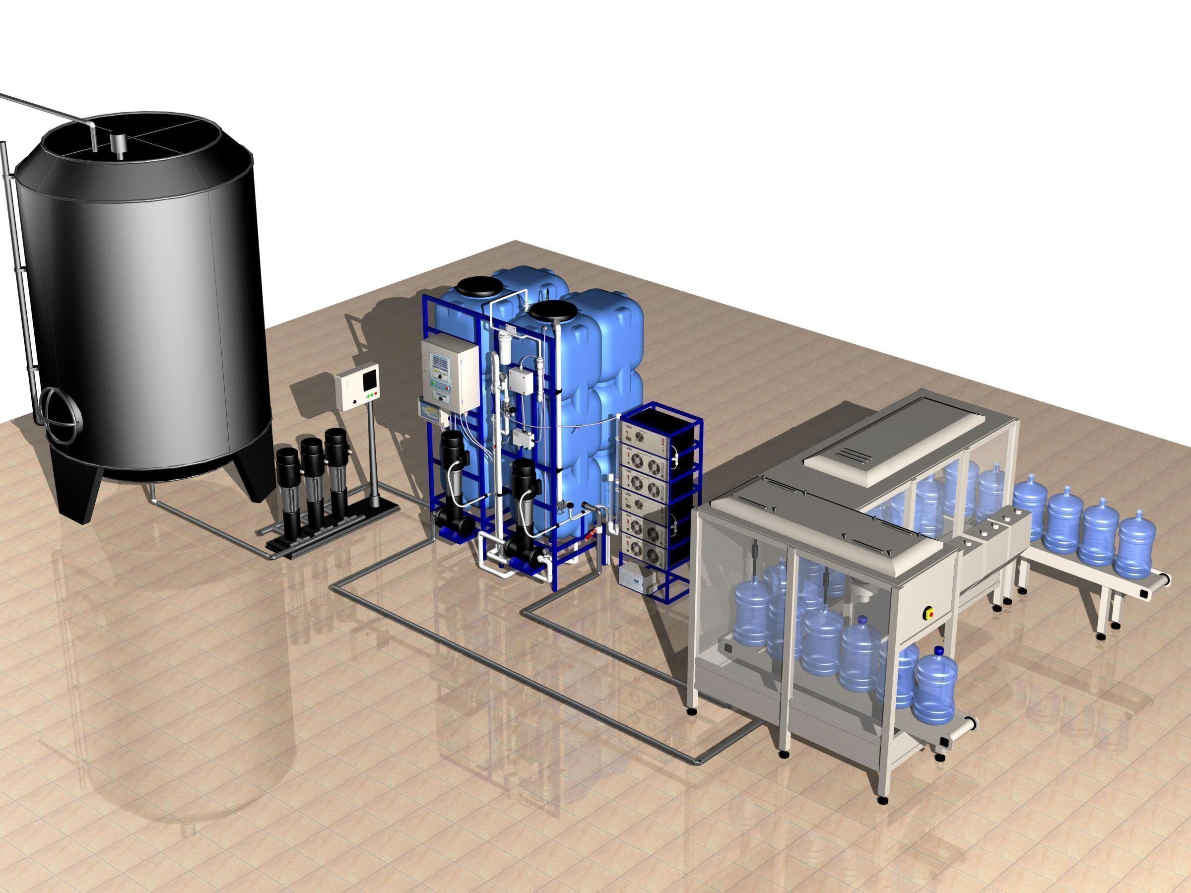 озонирование воды схема
