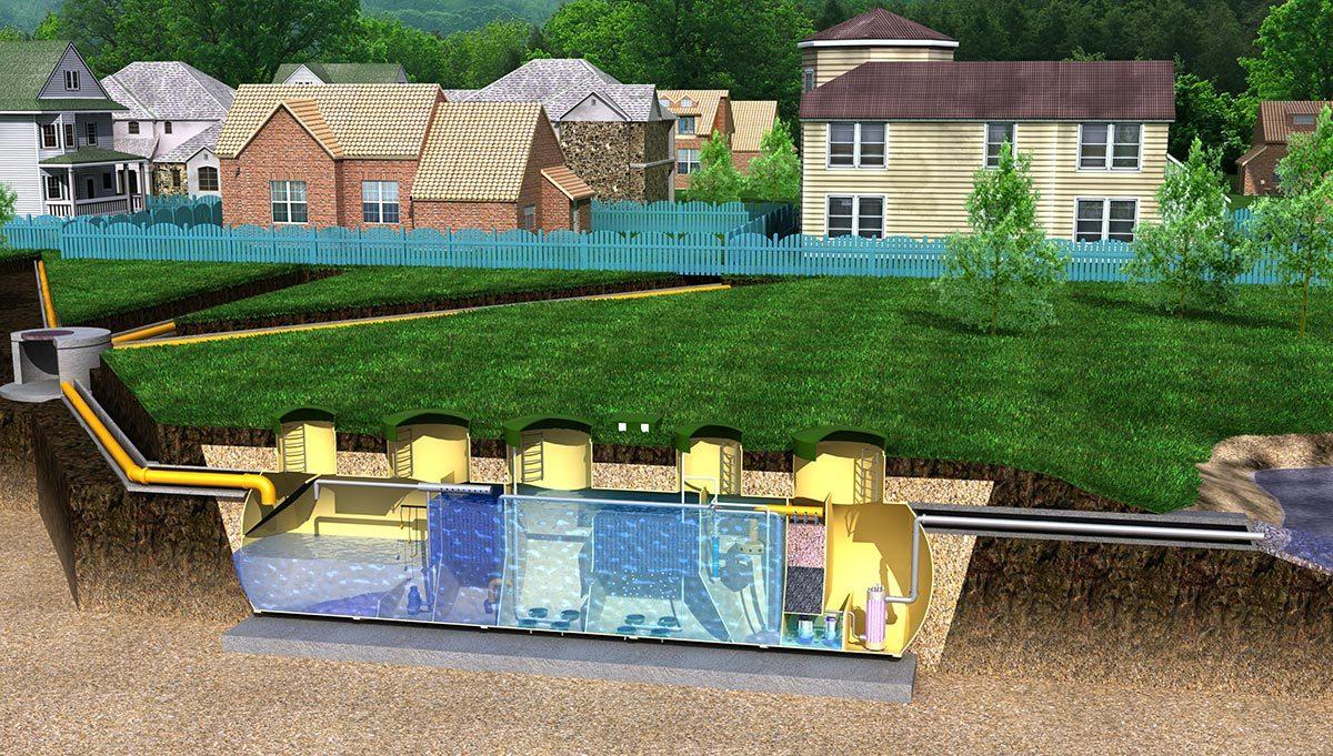 Отстаивание воды перед выбросом