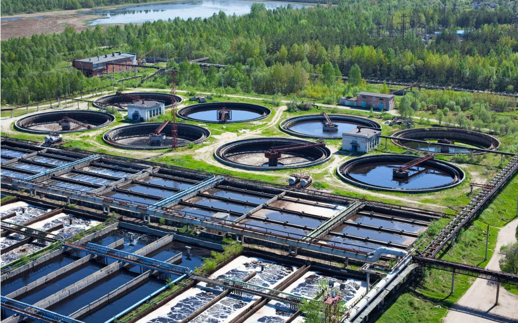 очистка сточных вод на крупном предприятии